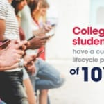 College students enjoying streaming media subscription. Student seed programs are a great strategy for subscription-based companies to acquire younger customers because college students have a customer lifecycle preference of 10 years.