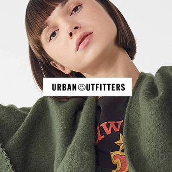 A student happy with a purchase she made from Urban Outfitters through a gated, exclusive offer.